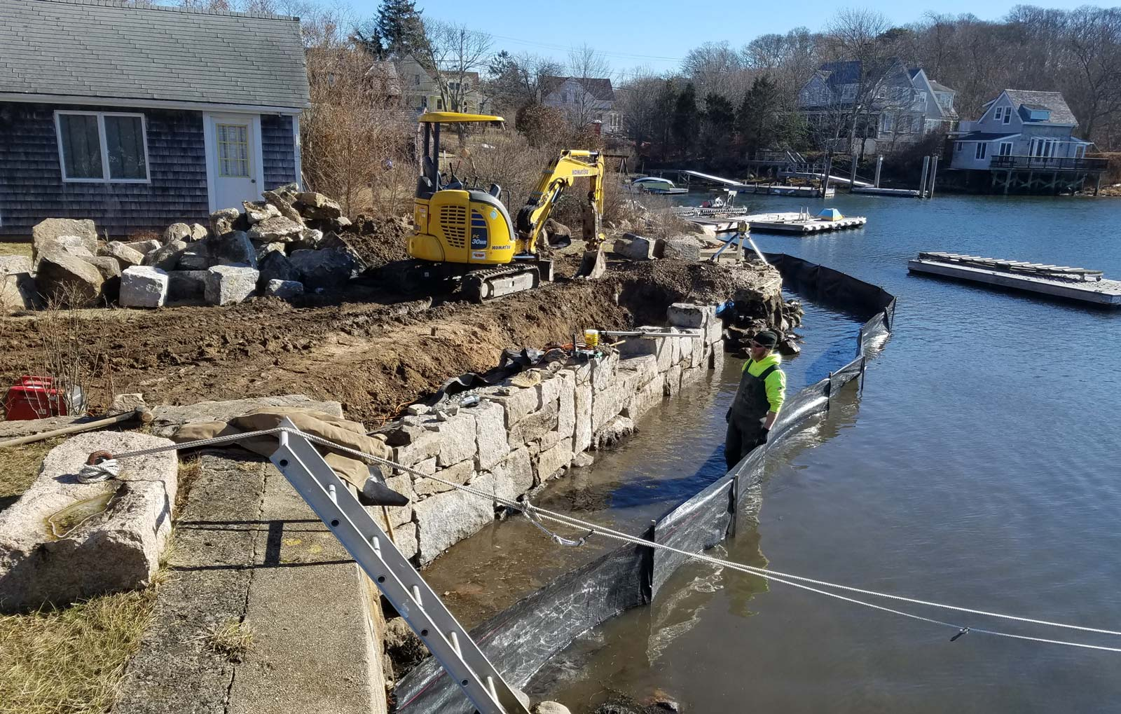 Cape Cod Seawall Construction